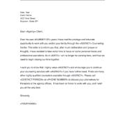 Sample Agency Ending Letter