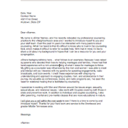 Sample Letter to Church